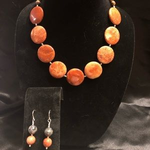 Picasso Marble Necklace & Earrings